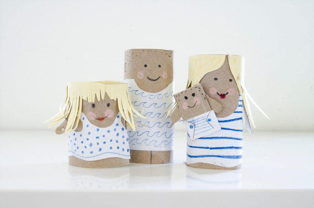 דמויות המשפחה מגלילי נייר טואלט, פעילות יצירה עם הילדים