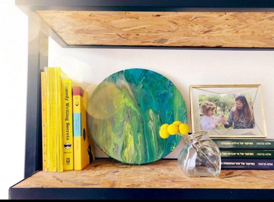 המלצת מתנה לחברות ולאנשים אהובים- סדנאת אקרליק פורינג של הייגה תל אביב
