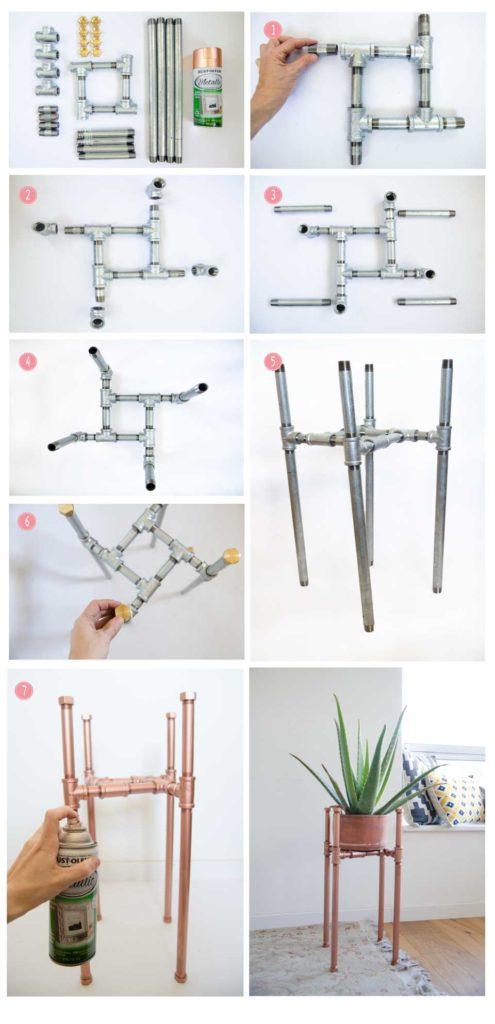 הדרכה לפי שלבים להכנת עציץ מצינורות