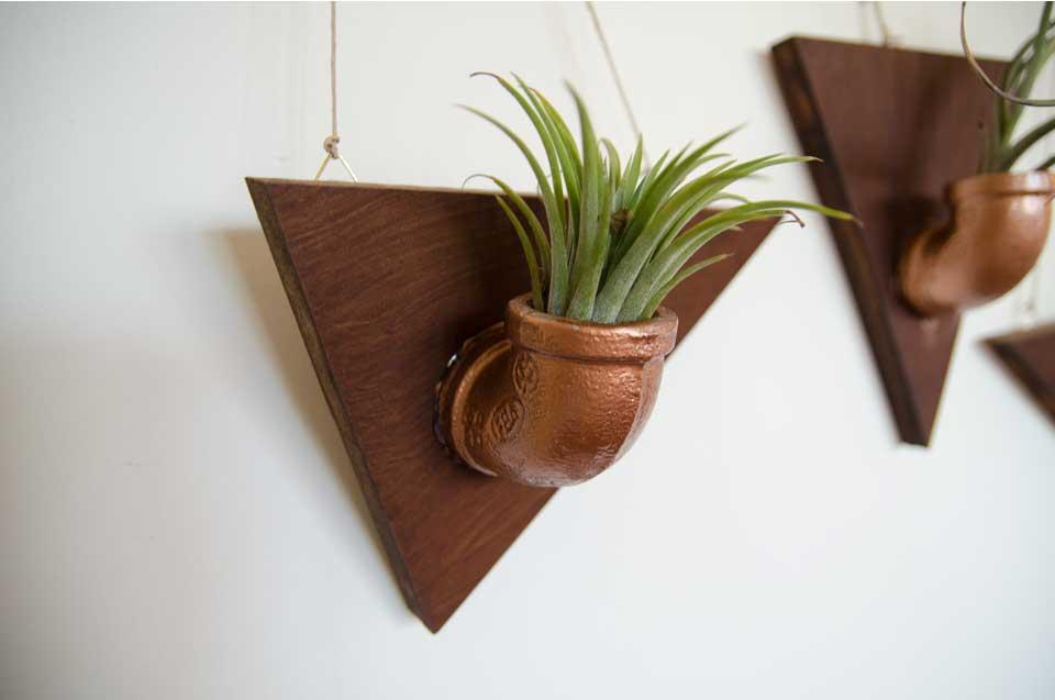 עציץ תלוי מצינורות זווית לצמחי אוויר