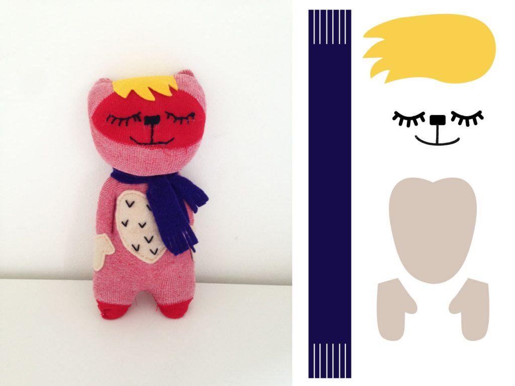 בובת גרב חתול ואביזרים משלימים