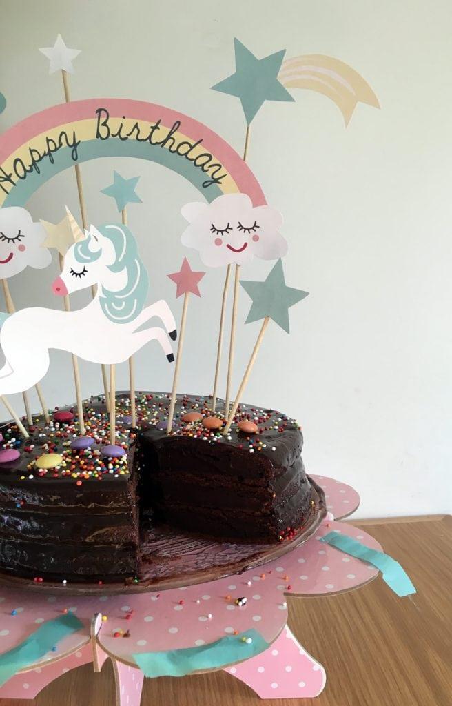 קישוטי חד קרן להורדה לעוגת יום הולדת