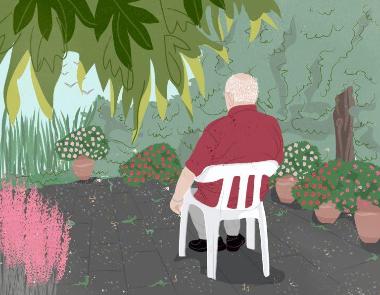 אבא שלי בגינה