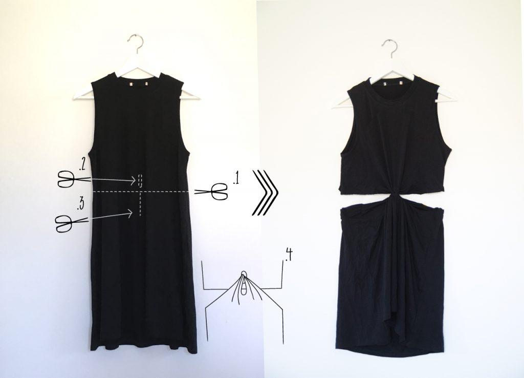 איך לשדרג שמלה לשמלת חתך במותן