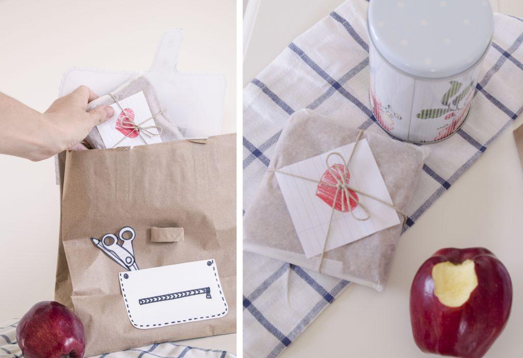 איך להכין לאנץ' בוקס משקית נייר ולעטוף כריך חיום הראשון ללימודים