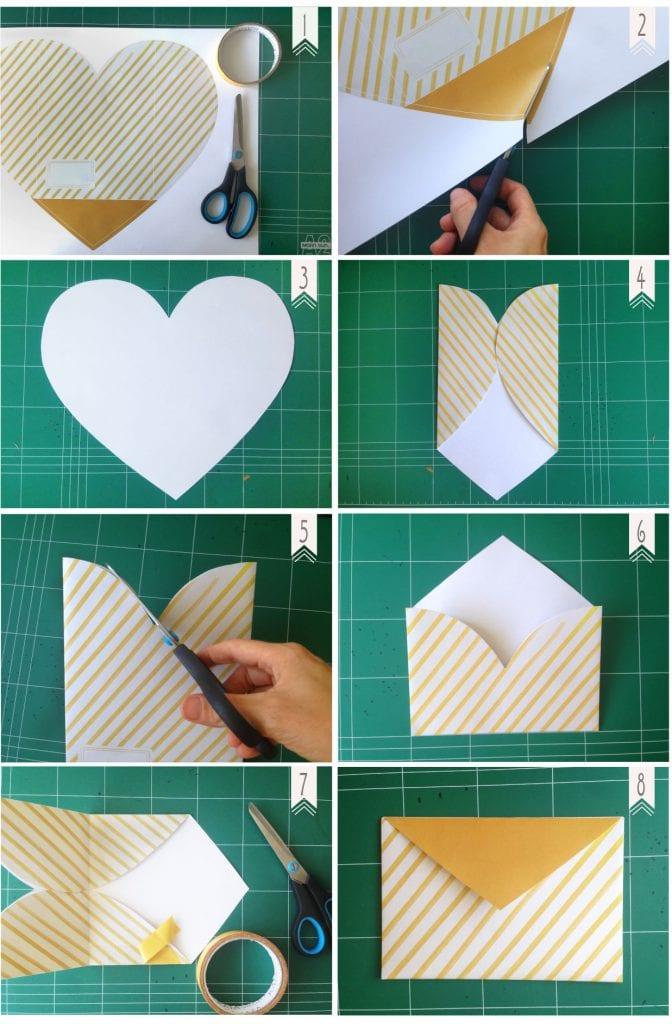 איך להכין מעטפה לבבית