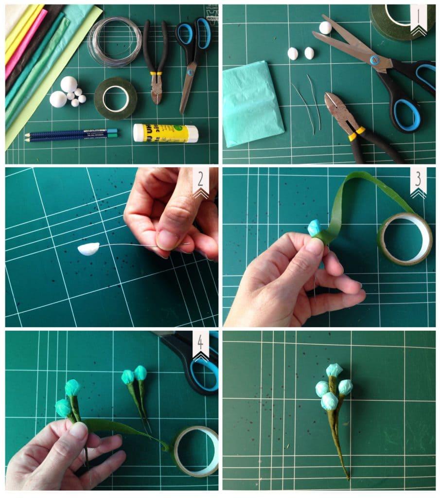 איך להכין פרחי נייר, שלב אחרי שלב