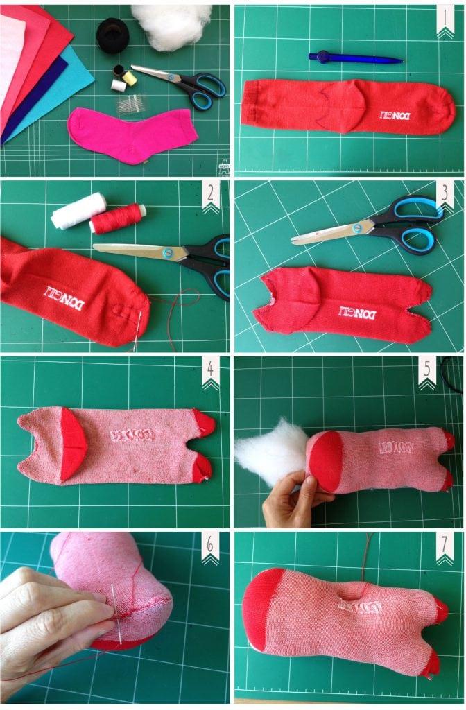 איך להכין בובה מגרב