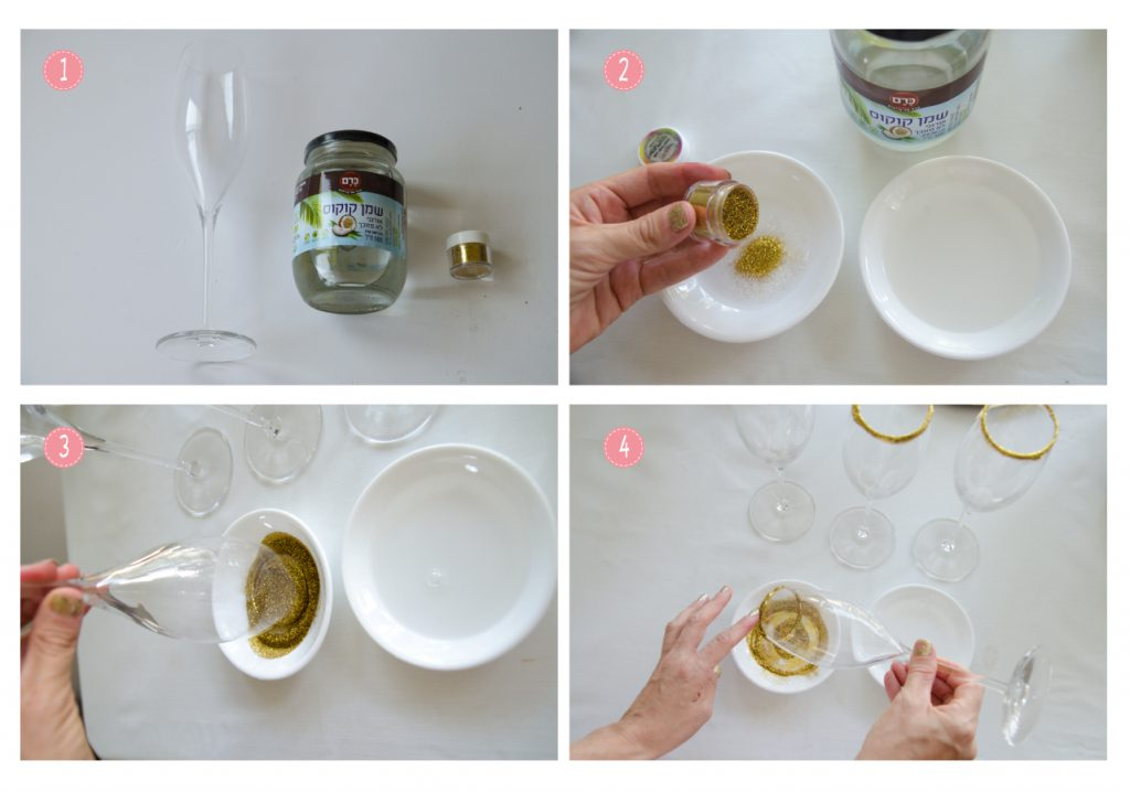 איך מקשטים כוסות יין למסיבת רוז גולד