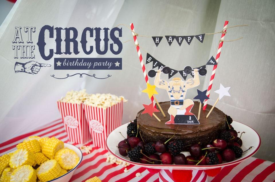 circus theme birthday party