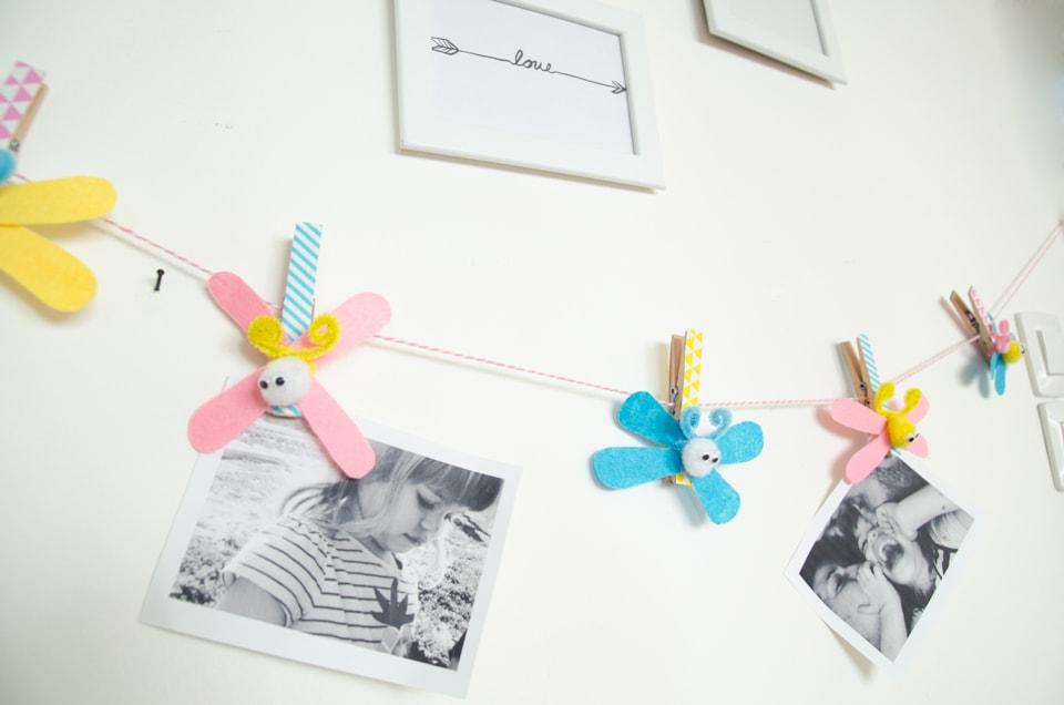 פרפרים על חבל, הדרך לקשט את חדר הילדים ולתלות תמונות