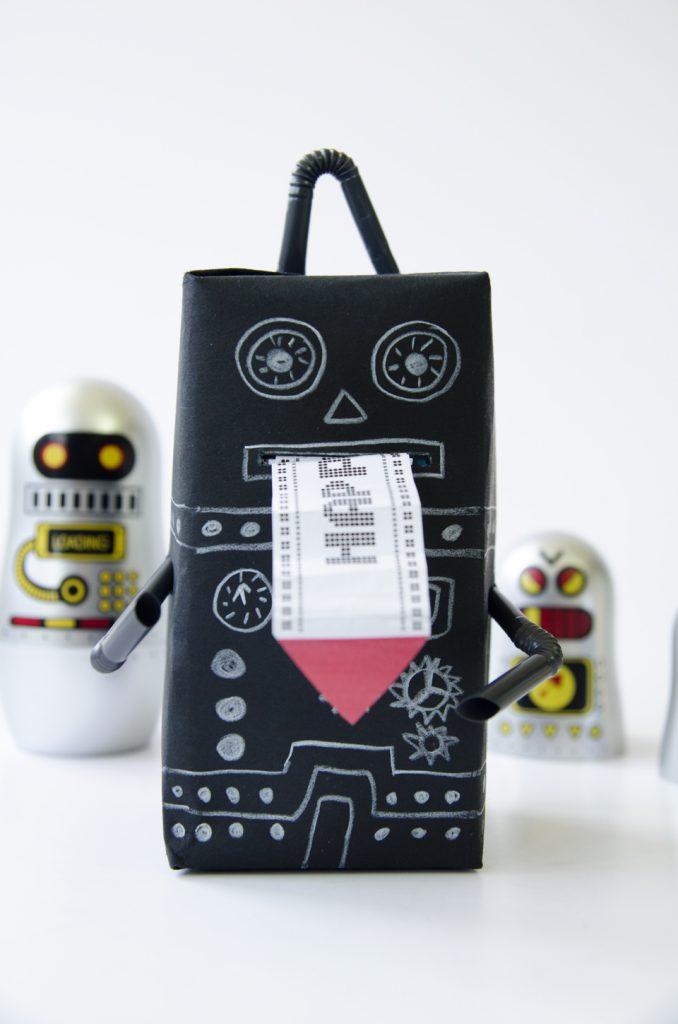 אריזת רובוט מתנה עשה זאת בעצמך