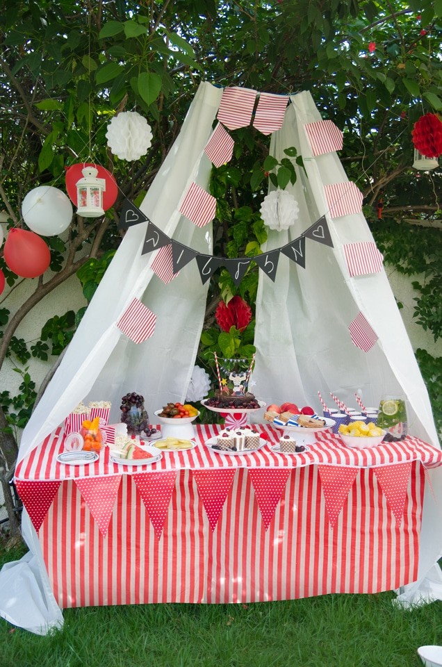 שולחן ערוך למסיבת קרקס