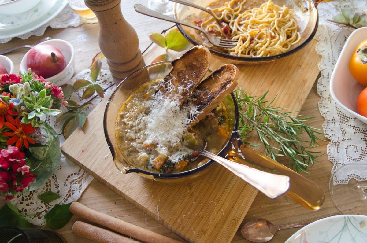 ארוחת ערב חורפית עם המתכונים של מסימיליאנו די מתאו- מאסטר שף מרק מיניסטרונה סתווי