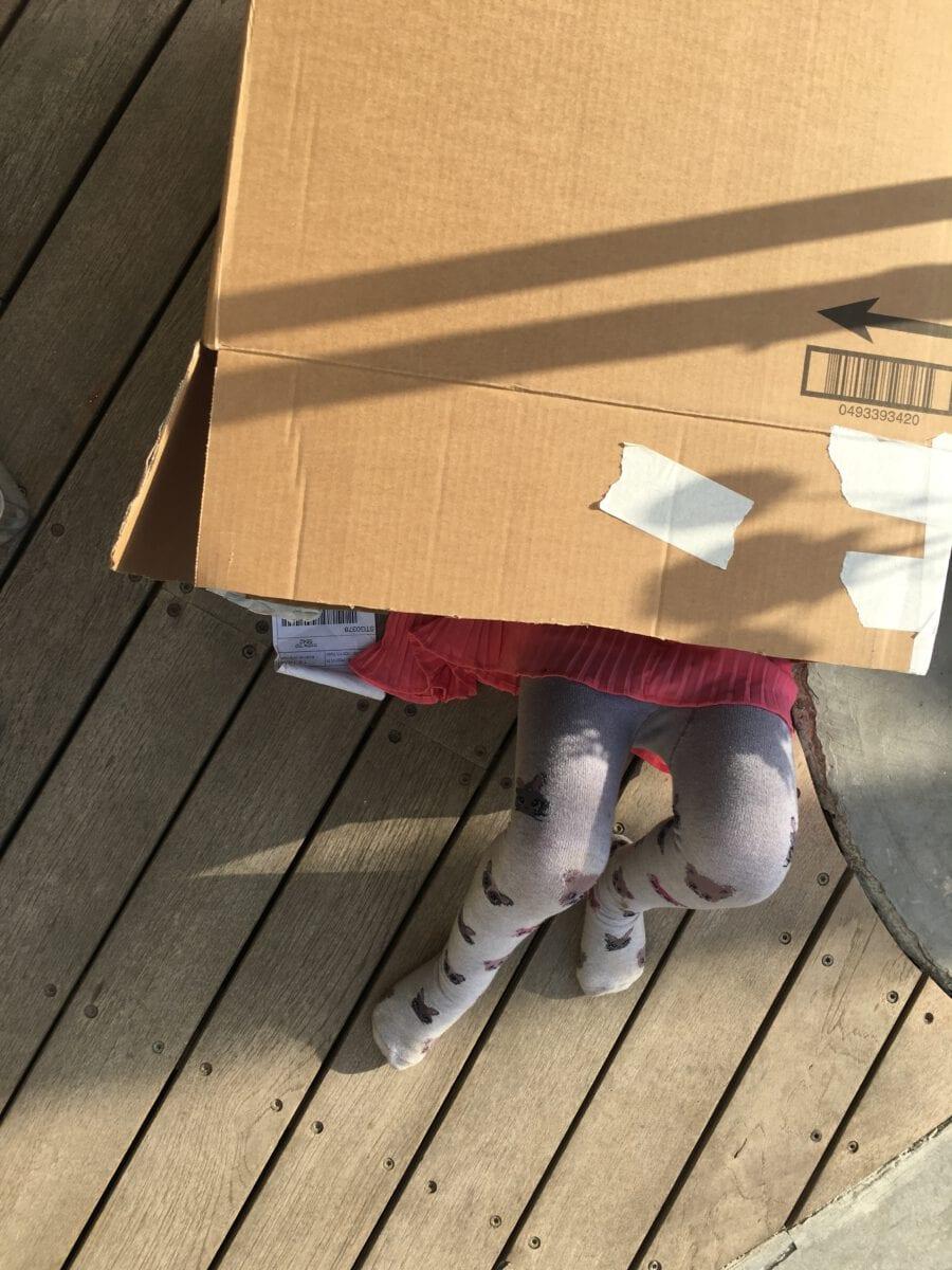 הדרכות לבניית שתי טירות מקרטון עם הילדים