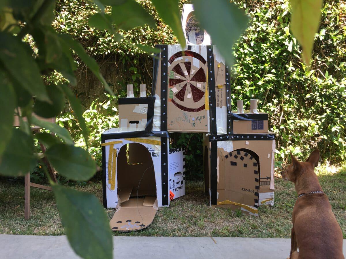 הטירה המפוארת שלנו עומדת בחצר