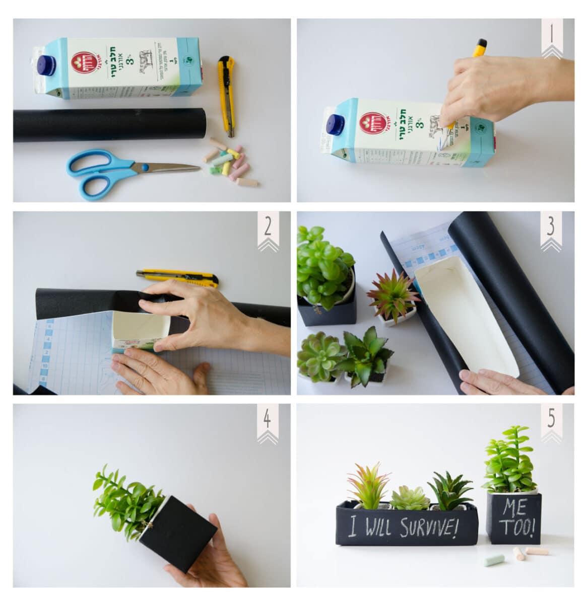 השלבים להכנת עציץ עם מסר