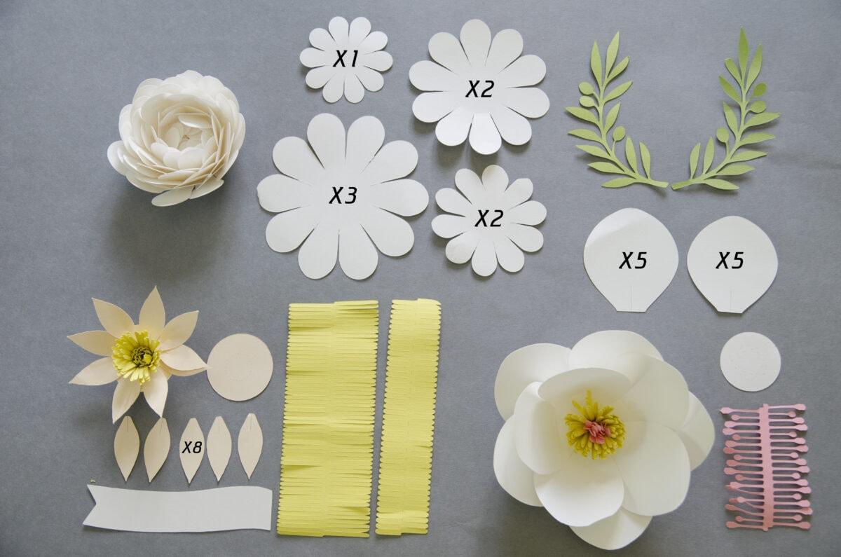 מה צריך להכנת פרחים מנייר
