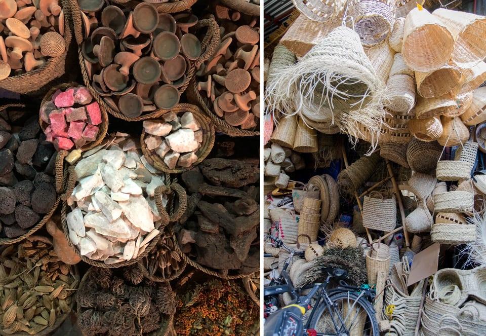 העומס בשווקים של מרקש